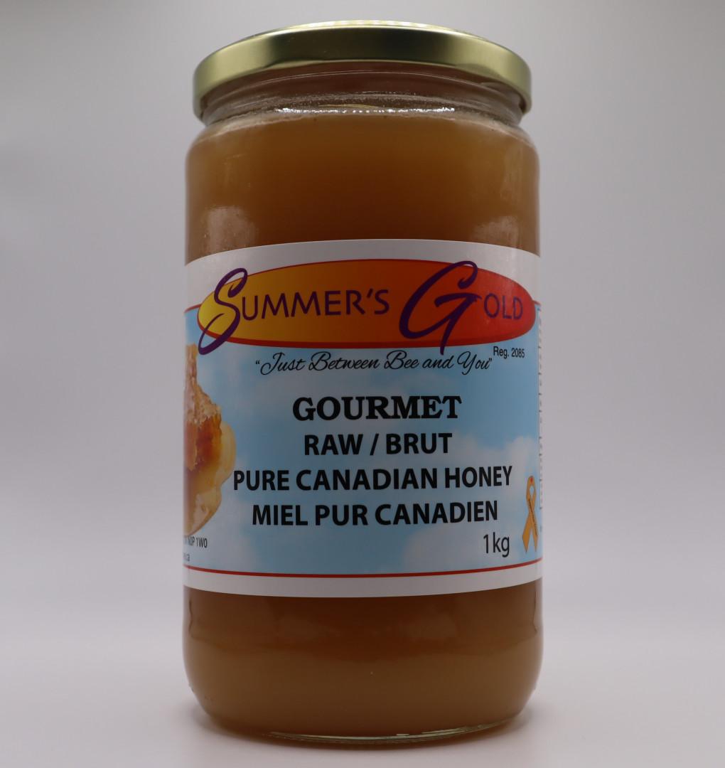 1 kg Raw Ontario Honey Glass Jar Canada No. 3